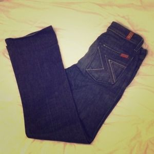 7 for all Mankind Pants - 7 for all Mankind Zig Zag Boot Cut Dark Wash Denim