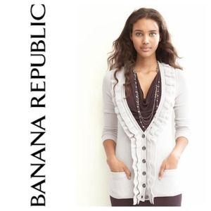 Banana Republic Sweaters - Banana Republic Cozy Ruffle Cardigan