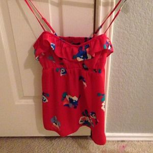 Red AE floral tank