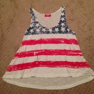 Tops - American flag tank