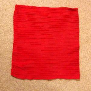 Red mini pencil skirt
