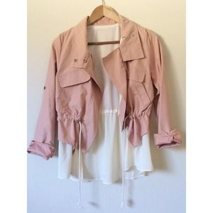 Adorable light cream/pink jacket NWOT