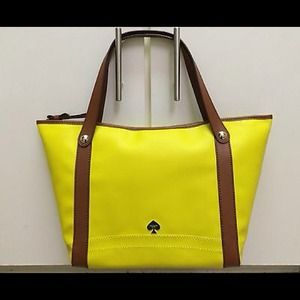 NWT! Authentic Kate Spade Yellow Leather tote