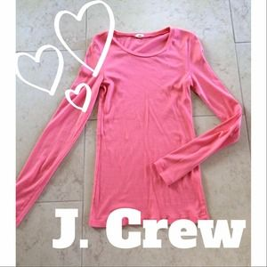 J. Crew Tops - Pink J. Crew Long-sleeved Top
