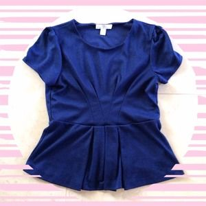 Forever 21 Tops - Navy Peplum Top