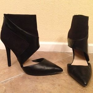 Zara Ankle Wrapped D'Orsay Heels