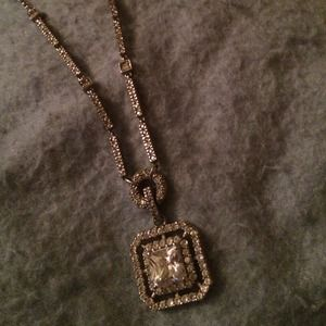 Art Deco cz necklace
