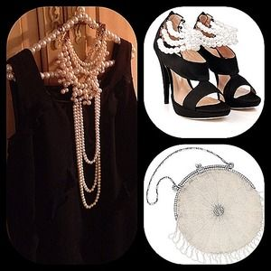 Haute little black dress with chiffon ruffles