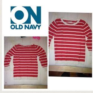 Old navy striped sweater. Medium
