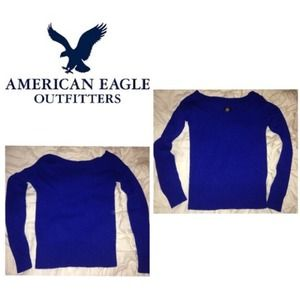 American Eagle Outfitters Sweaters - AE royal blue wool sweater. Small