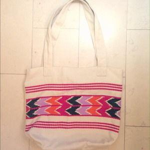 Handbags - One Of A Kind Aztec Woven Canvas Bag