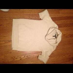 Short Sleeve BCBG Cowl Neck Sweater