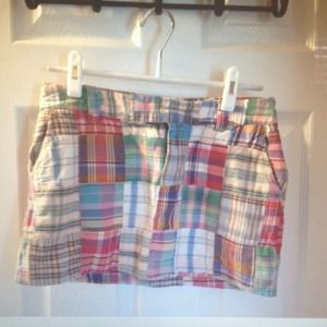 American eagle plaid patchwork skirt