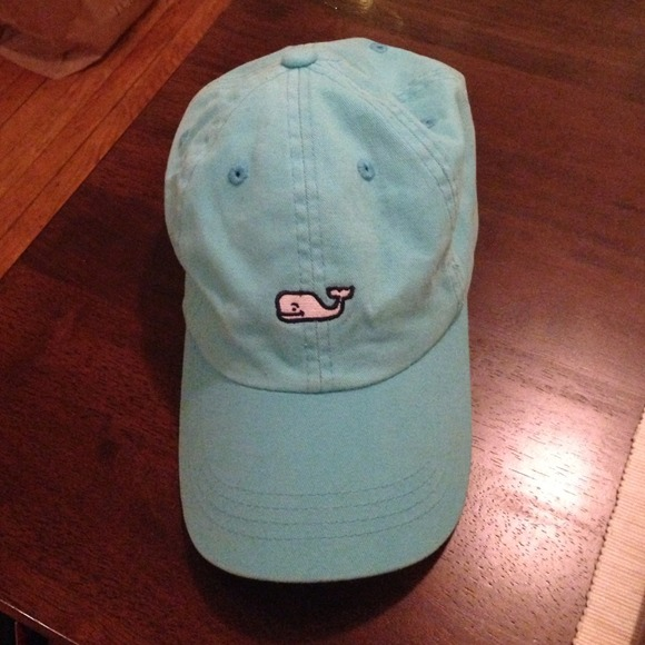 3770d96c2b0 Vineyard Vines Whale Logo Hat in Aqua Blue