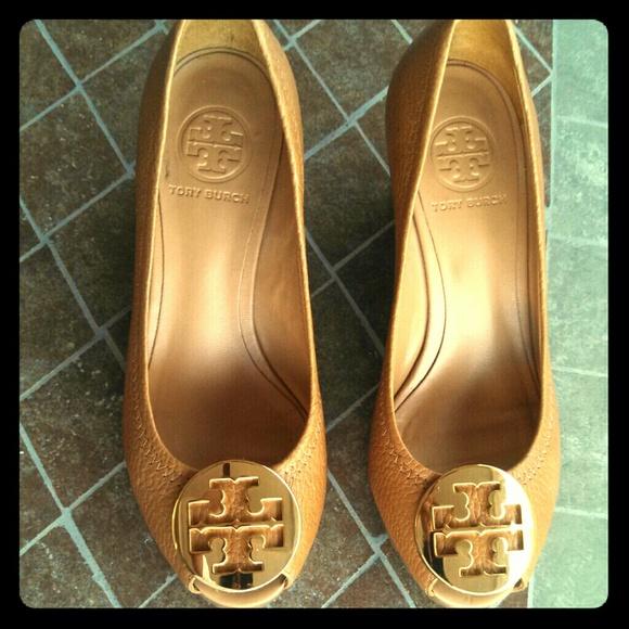 2a0c125e04cdd Tory Burch Sally 2 peep Toe wedge pump. M 52cb45af7819504c5e1ffa60