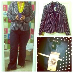 Torrid Jackets & Blazers - REDUCED Torrid polka-dot blazer