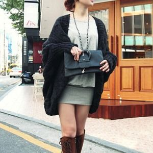 Sweaters - Open front knitted loose sweater (for bunkie)
