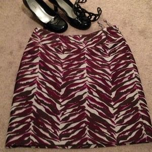 Zebra Pencil Skirt w/a twist
