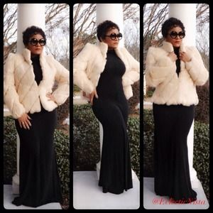 NEWVintage Hollywood Glam Fur Coat