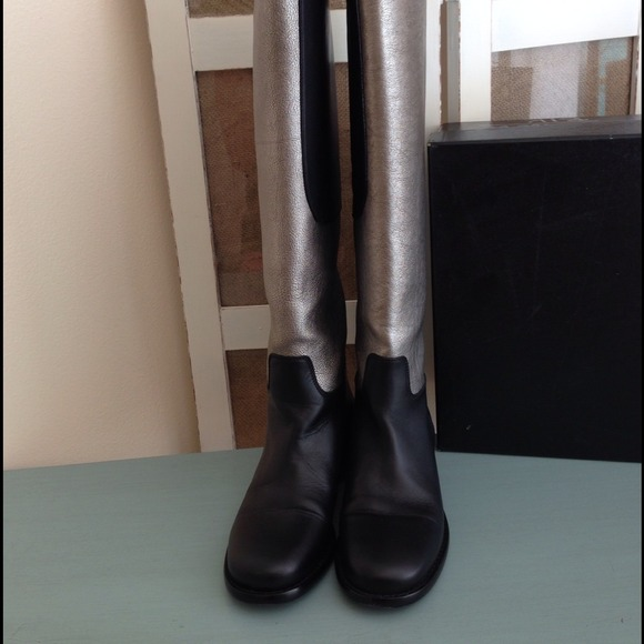 CHANEL Boots - Authentic Chanel Two-Toned Riding Boots 2