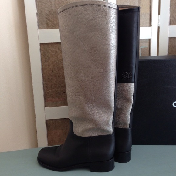 CHANEL Boots - Authentic Chanel Two-Toned Riding Boots 3