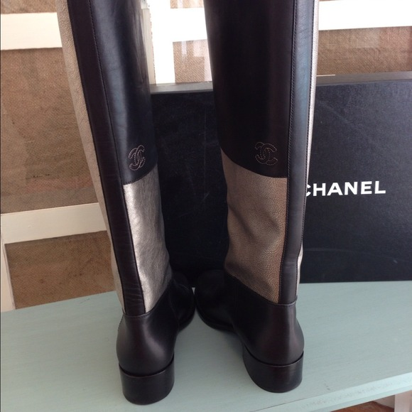 CHANEL Boots - Authentic Chanel Two-Toned Riding Boots 4