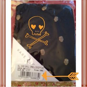 Embellished Skull footed tights