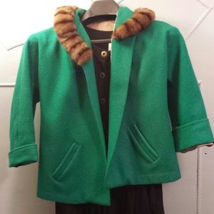 JUST REDUCED Vintage jacket with fur