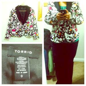 Torrid Jackets & Blazers - DISCOUNTED! Torrid Flower Print Blazer
