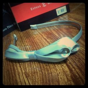 New York & Co. Accessories - Silver Big Bow Headband