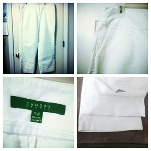 Sandro Studio Pants - Sandro Studio White Trousers