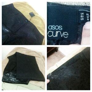 ASOS Pants - DISCOUNTED! ASOS Curve Black Satin Print