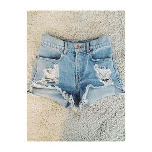 Brandy Melville light blue high waisted shorts