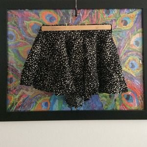 Black dotted skort