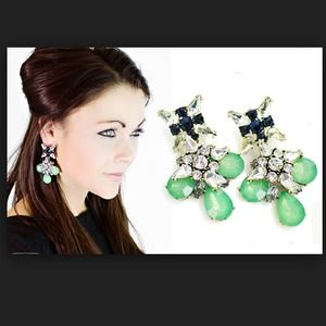 HOST PICK !! J. Crew Blue Grotto Crystal Earrings.