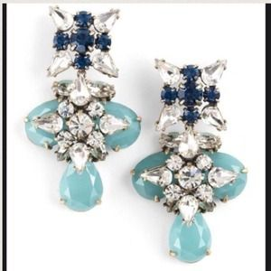 ⚡FINAL⚡️️HP J.Crew Blue Grotto Crystal Earrings