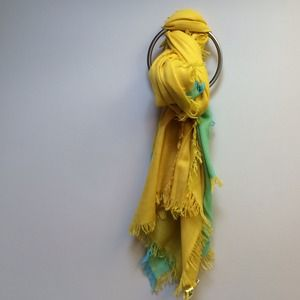Accessories - Pretty Yellow and Teal Scarf