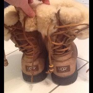 UGG Shoes - UGG short chestnut lace up back boots