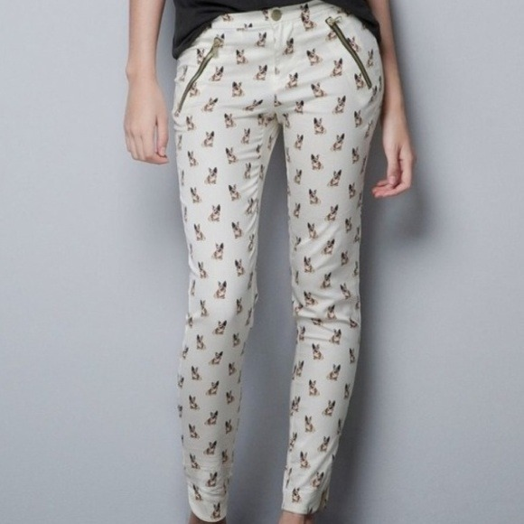 Zara Pants - REDUCED/Zara Bulldog Print Pants
