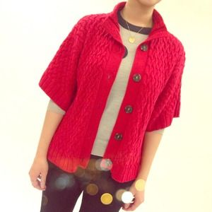 Cozy Red Cardigan