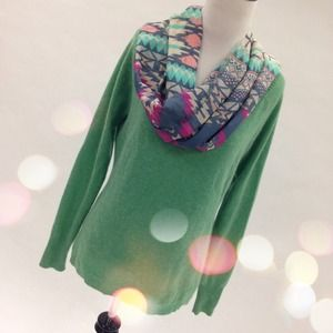 Sweaters - Green Cashmere Sweater