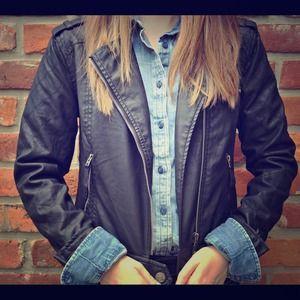 Aeropostale faux leather moto jacket!
