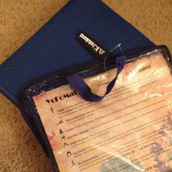 Khataland Other Reduced Folding Travel Yoga Mat By Nwt Poshmark