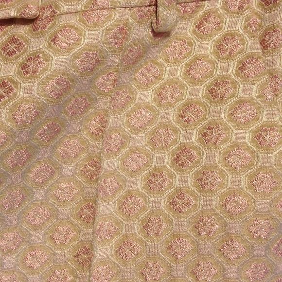 Topshop Pants - Topshop Pink Jacquard Cropped Pants