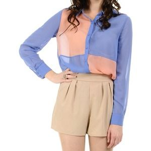 NEW Pastel Colorblock Shirt