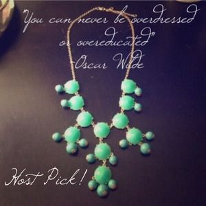 Turquoise bubble necklace