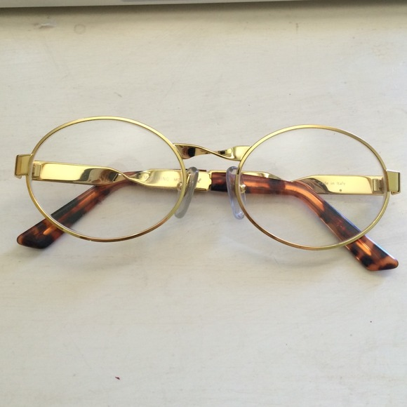 moschino Accessories | Gold Frames Glasses Vintage Frames | Poshmark