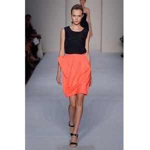 Marc by Marc Jabobs Neon Coral Draped Skirt