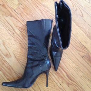 Aldo's brown boots!