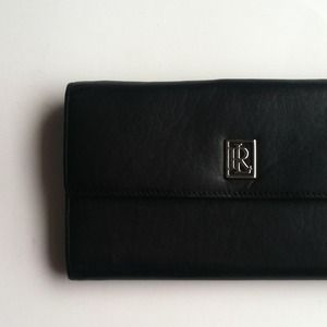 Ralph Lauren Leather Checkbook Wallet